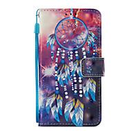 billiga Mobil cases & Skärmskydd-fodral Till Xiaomi Redmi not 5A Redmi Note 4X Korthållare Plånbok med stativ Lucka Mönster Fodral Drömfångare Hårt PU läder för Redmi