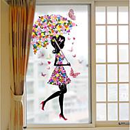 baratos Películas e Adesivos de Janela-3D impressão Moderna Adesivo de Janela Fosco, PVC/Vinil Material Decoração de janela Corredores Sala de Estar
