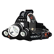cheap Flashlights & Camping Lanterns-Boruit® RJ-3000 Headlamps LED 3000/5000 lm 4 Mode LED with Charger Rechargeable Strike Bezel Camping/Hiking/Caving Traveling