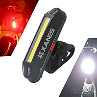 billige Sykkellykter og reflekser-Baklys til sykkel / sikkerhet lys / Baklys LED Sykkellykter LED Sykling Vanntett, Bærbar, Lettvekt Oppladbart Batteri 500 lm Hvit Sykling / IPX-4