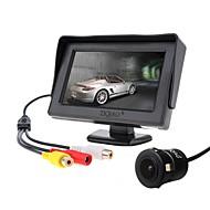 billiga Parkeringskamera för bil-ziqiao 4,3 tums bildskärm och ccd hd bil bakifrån kamera