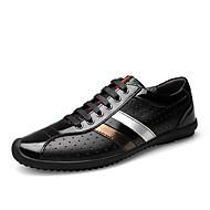 tanie Obuwie męskie-Męskie Komfortowe buty Skóra nappa Wiosna / Jesień Tenisówki Czarny