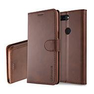 billiga Mobil cases & Skärmskydd-fodral Till OnePlus OnePlus 5T 5 Korthållare Plånbok med stativ Lucka Fodral Enfärgad Hårt PU läder för One Plus 5 OnePlus 5T