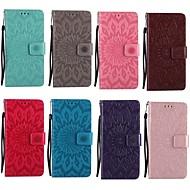billiga Mobil cases & Skärmskydd-fodral Till Samsung Galaxy A5(2017) A3(2017) Korthållare Plånbok med stativ Lucka Mönster Läderplastik Fodral Mandala Hårt PU läder för