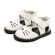 cheap Girls' Shoes-Girls' Shoes Leatherette Summer First Walkers Comfort Sandals for Casual White Black Pink