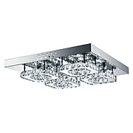 4-Light Flush Mount Ambient Light - Crystal, LED, 85-265V, Bijela, Uključen je LED izvor svjetlosti / 10-15㎡ / Integrirano LED svjetlo