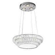 billige Takbelysning og vifter-ZHISHU Sirkelformet Lysekroner Nedlys - Krystall, Mini Stil, Flerskjerms, 220-240V, Varm hvit + hvit, LED lyskilde inkludert / 15-20㎡