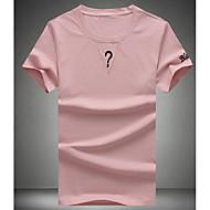 Homens Camiseta Moda de Rua Sólido