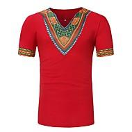Χαμηλού Κόστους -Ανδρικά T-shirt Βασικό Γεωμετρικό Στάμπα