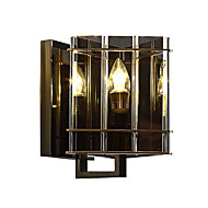 cheap Wall Lights-Crystal Eye Protection LED Modern / Contemporary Wall Lamps & Sconces For Living Room Study Room / Office Metal Wall Light 110-120V