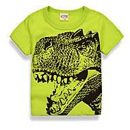 Toddler Boys' Basic Daily / Holiday Print Print Short Sleeve Regular Cotton / Polyester Tee Green