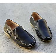 baratos Sapatos de Menino-Para Meninos Sapatos Pele Primavera / Outono Conforto / Mocassim Mocassins e Slip-Ons para Branco / Preto / Amarelo