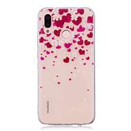 billiga Mobil cases & Skärmskydd-fodral Till Huawei P20 lite P20 Pro IMD Genomskinlig Mönster Skal Hjärta Mjukt TPU för Huawei P20 lite Huawei P20 Pro Huawei P20 P10 Plus