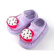 baratos Sapatos de Menino-Para Meninos / Para Meninas Sapatos Tecido Primavera / Outono Conforto / Primeiros Passos Rasos para Roxo / Azul / Rosa claro