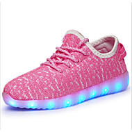 cheap Shoes Trends-Boys' Shoes Tulle Fall Light Up Shoes Athletic Shoes Walking Shoes LED for Pool / Green / Pink
