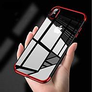 tanie -Kılıf Na jabłko iPhone X / iPhone 8 Galwanizowane / Ultra cienkie / przezroczysta obudowa Czarne etui Jendolity kolor Miękkie TPU na iPhone X / iPhone 8 Plus / iPhone 8