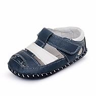 tanie Obuwie chłopięce-Dla chłopców / Dla dziewczynek Obuwie Skórzany Lato Wygoda / Buty do nauki chodzenia Sandały na Niebieski