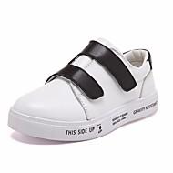 tanie Obuwie dziewczęce-Dla chłopców / Dla dziewczynek Obuwie Skórzany Wiosna Mokasyny Mokasyny i pantofle na Dla dzieci White / Black