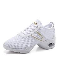 baratos Sapatilhas de Dança-Mulheres Tênis de Dança Malha Respirável Têni Salto Baixo Personalizável Sapatos de Dança Branco / Preto
