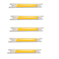 billige belysning Tilbehør-5pcs COB 12V Bulb Accessory Selvlysende Led Brikke Aluminium for DIY LED Flood Light Spotlight 3W