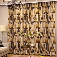 billige Gardiner ogdraperinger-gardiner gardiner Stue Moderne Bomull / Polyester Trykket