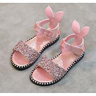 tanie Obuwie dziewczęce-Dla dziewczynek Buty Dżety Derma Lato Comfort Sandały na Casual Black Silver Różowy