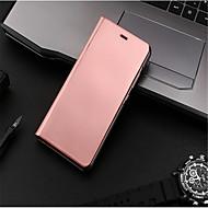 Θήκη Za Huawei P10 Lite P10 sa stalkom Pozlata Zrcalo Zaokret Auto Sleep / Wake Up Korice Jedna barva Tvrdo PU koža za P10 Plus P10 Lite