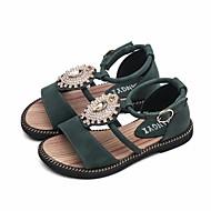 お買い得  女の子用靴-女の子 靴 PUレザー 夏 コンフォートシューズ サンダル のために ブラック / ベージュ / グリーン