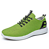 cheap Men's Boat Shoes-Men's Shoes Knit / Tulle Spring / Fall Comfort Boat Shoes Walking Shoes Yellow / Army Green
