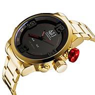 billige Sportsur-ASJ Herre Digital Sportsur Japansk Alarm Kalender Vandafvisende Selvlysende i mørke Stopur Rustfrit stål Bånd Luksus Mode Guld