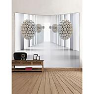 tanie Dekoracje ścienne-Miejsca Architektura Dekoracja ścienna 100% Polyester Współczesny Nowoczesny Wall Art, Ścienne Gobeliny Dekoracja