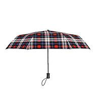 baratos Mais Populares-Tecido Homens Ensolarado e chuvoso / Prova-de-Vento / novo Guarda-Chuva Dobrável