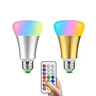 Χαμηλού Κόστους -2pcs 10W 600lm lm E26/E27 LED Έξυπνες Λάμπες 32pcs leds SMD 5050 Με ροοστάτη Διακοσμητικό Τηλεχειριζόμενο 85-265V