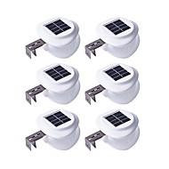 billige Utendørs Lampeskjermer-6pcs 0.5W Wall Light Solar Lysstyring Utendørsbelysning Varm hvit Kjølig hvit 2V