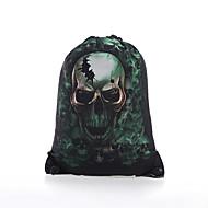 baratos Mochilas-Mulheres Bolsas Algodão mochila Vazados Verde / Preto
