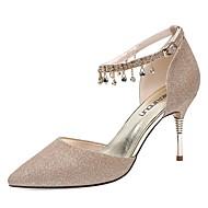 baratos Sapatos Femininos-Mulheres Sapatos Micofibra Sintética PU Primavera / Outono Gladiador / Plataforma Básica Saltos Salto Agulha Dedo Apontado Pérolas