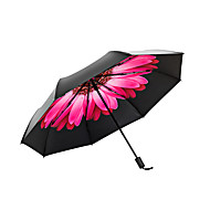 baratos Mais Populares-Tecido Mulheres Ensolarado e chuvoso / Prova-de-Vento / novo Guarda-Chuva Dobrável