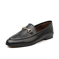 Mujer Zapatos Ante Primavera / Otoño Confort Zapatos de taco bajo y Slip-On Tacón Cuña Dedo redondo Remache Negro / Nudo kiCNN