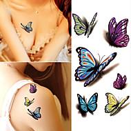 10 pcs Tatuaggi adesivi Tatuaggi temporanei Serie di cartoni animati arti del corpo braccio