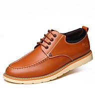 tanie Obuwie męskie-Męskie Fashion Boots Skórzany Wiosna / Jesień Buciki Spacery Kozaczki / kozaki do kostki Black / Yellow / Brown