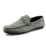 baratos Sapatos Masculinos-Homens Mocassim Cashmere Primavera / Outono Mocassins e Slip-Ons Preto / Cinzento / Verde Escuro