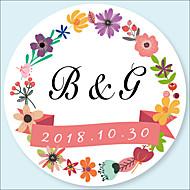 Floral / Botánico Pegatinas, Etiquetas y Etiquetas - 48pcs Circular Pegatina Pegatina del sobre Todas las Temporadas