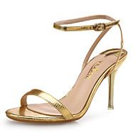 abordables -Mujer Zapatos PU microfibra sintético / Cuero Primavera / Verano Confort Sandalias Tacón Stiletto Dorado / Plata / Fiesta y Noche