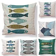 6 szt Tekstylny Bawełna / len Poszewka na poduszkę, Geometric Shape Prosty Drukowanie Art Deco / Retro