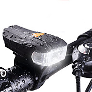 cheap -Bike Lights LED LED Cycling Waterproof Lightweight Rechargeable Battery 400lm Lumens White Cycling/Bike