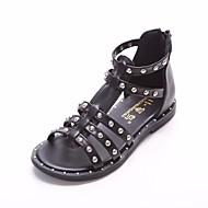 baratos Sapatos de Menina-Para Meninas Sapatos Courino Verão Sapatos para Daminhas de Honra Sandálias para Crianças Branco / Preto