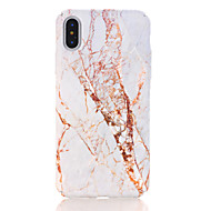 billiga Mobil cases & Skärmskydd-fodral Till Apple iPhone X iPhone 8 Mönster Skal Marmor Hårt PC för iPhone X iPhone 8 Plus iPhone 8 iPhone 7 Plus iPhone 7 iPhone 6s Plus