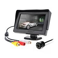 billiga Parkeringskamera för bil-ziqiao 4,3 tums skärm och 8led ccd hd bil bakifrån kamera
