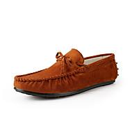 お買い得  メンズオックスフォードシューズ-男性用 靴 PUレザー 夏 コンフォートシューズ オックスフォードシューズ ブラック / オレンジ / ブルー