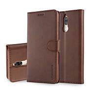 billiga Mobil cases & Skärmskydd-fodral Till Huawei Mate 10 lite Mate 10 pro Korthållare Plånbok med stativ Lucka Fodral Enfärgad Hårt PU läder för Mate 10 lite Mate 10